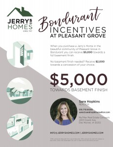Pleasant Grove Incentive